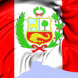 Foto Stock: Flag of Peru