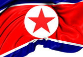 Flagga nordkorea — Stockfoto