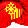 Flag of Languedoc-Roussillon, France. — Stock Photo