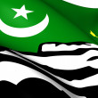 Stock Photo: Flag of Hunza, Pakistan.