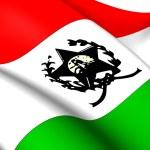 Flag of Afonso Claudio, Brazil. — Stock Photo #34268347