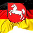 Flag of Lower Saxony, Germany.  — Stock Photo