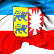 Flag of Schleswig-Holstein, Germany. — Stock Photo #35005381