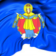 Flag of Maladzyechna, Belarus. — Foto Stock