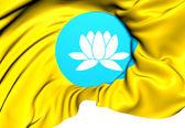 Republic of Kalmykia Flag, Russia. — Stock Photo