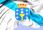 Flag of Galicia, Spain. — Stock Photo