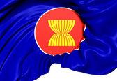 Flaga asean — Zdjęcie stockowe