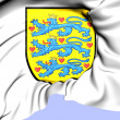Denmark Coat of Arms — Stock Photo