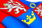 Flag of Hradec Kralove Region, Czech Republic. — Stock Photo