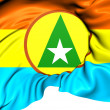 Stock Photo: Flag of Cabinda Province, Angola.