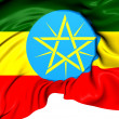 Stock Photo: Flag of Ethiopia