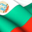 People's Republic of Bulgaria Flag (1971-1990) — Stock Photo