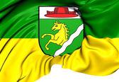 Bandeira de schiedlberg, áustria. — Fotografia Stock