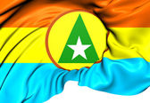 Flag of Cabinda Province, Angola. — Stockfoto