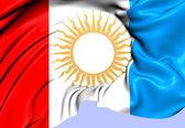 コルドバ、アルゼンチンの旗. — ストック写真
