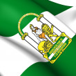 Stock Photo: Flag of Andalusia, Spain.