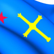 Andecha Astur Flag — Stock Photo