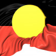 Australian Aboriginal Flag — Stock Photo