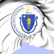 State Seal of Massachusetts, USA. — Stock Photo #39912247
