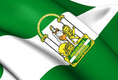 Flag of Andalusia, Spain. — Stock Photo