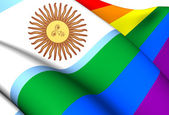 Argentina Gay Flag — Stock Photo