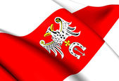 Flag of Brzeziny County, Poland. — Stock Photo