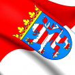 Stock Photo: Flag of Hessen, Germany.