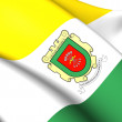 Stock Photo: Flag of SSebastide Mariquita, Colombia.
