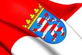 Vlag van hessen, duitsland. — Stockfoto