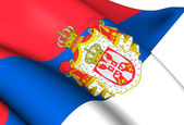 Kingdom of Serbia Flag (1882-1918) — Stock Photo