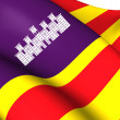 Balearic Islands Flag, Spain. — Stockfoto
