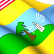 Stock Photo: Flag of Maryland County, Liberia.