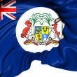 Stock Photo: British Mauritius Colonial Flag (1906-1923)