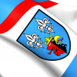 Stock Photo: Flag of Belchatow County, Poland.