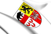 Anhalt-Bitterfeld Coat of Arms, Germany. — Stock Photo