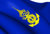 Commander-in-Chief of Royal Thai Navy Flag — Stock Photo