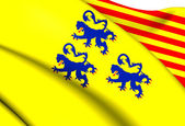 Alternate Flag of Limousin, France. — Stock Photo