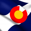 Photo: Flag of Colorado, USA.
