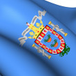 Flag of Melilla, Spain. — Stok fotoğraf
