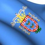 Flag of Melilla, Spain. — Stock Photo