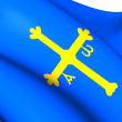 Asturias Flag, Spain. — Stock fotografie