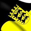 Stock Photo: Flag of Baden-Wurttemberg, Germany.