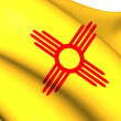Flag of New Mexico, USA. — Stock Photo