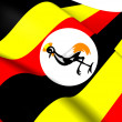 Stock Photo: Flag of Uganda