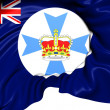Stock Photo: Flag of Queensland, Australia.