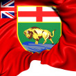 Flag of Manitoba, Canada.  — Stock Photo #41758571