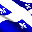 Stock Photo: Flag of Quebec Province, Canada.