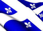 ケベック州、カナダの旗. — ストック写真