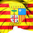 Flag of Aragon, Spain. — Stok fotoğraf