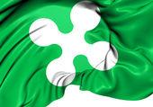 Flag of Lombardy, Italy.  — Stock Photo